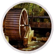 Old Mill Park Wheel Round Beach Towel