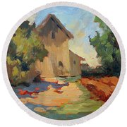 Old Mill Provence Round Beach Towel