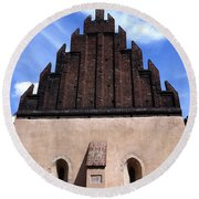 Old New Synagogue Round Beach Towel by Linda Woods