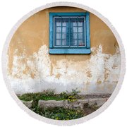 Old Paint Old Wall New Mexico Round Beach Towel