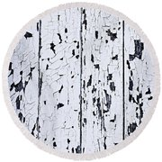 Old Painted Wood Abstract Round Beach Towel