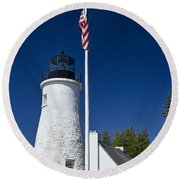 Old Presque Isle Light Station Round Beach Towel