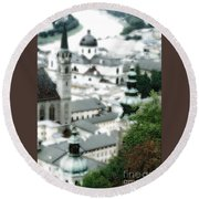 Old Salzburg Round Beach Towel