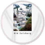 Old Salzburg Poster Round Beach Towel