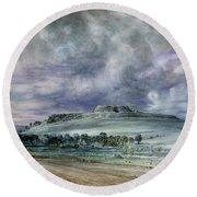 Old Sarum Round Beach Towel