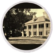Old Southern Plantation Round Beach Towel
