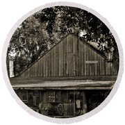 Old Spanish Sugar Mill Old Photo Round Beach Towel
