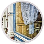 Old Store Front 1 Round Beach Towel