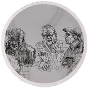 Old-timers  Round Beach Towel