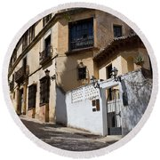 Old Town In Ronda Round Beach Towel
