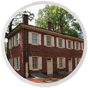 Old Town Philadelphia Brownstone House Round Beach Towel
