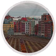 Old Town Vancouver Round Beach Towel