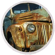 Old Tri-way Truck Round Beach Towel