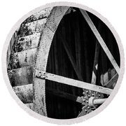Old West Water Mill 2 Round Beach Towel by Darcy Michaelchuk