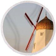 Old Windmill Round Beach Towel