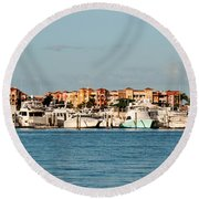 Olde Naples Seaport Round Beach Towel
