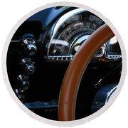 Oldsmobile 88 Dashboard Round Beach Towel