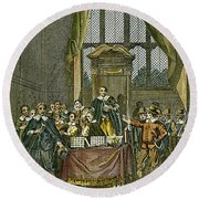 Oliver Cromwell Round Beach Towel