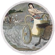 Olympic Games, Antiquity Round Beach Towel