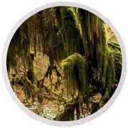 Olympic Moss Round Beach Towel