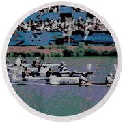 Olympic Rowing Round Beach Towel