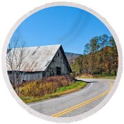 On A Roll In West Virginia 2 Round Beach Towel