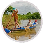 On The River Round Beach Towel