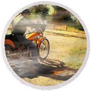 On The Road Again Round Beach Towel