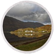 On The Shore Of Loch Duich Round Beach Towel