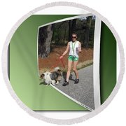 On The Trail Round Beach Towel