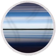 On The Water Abstract Round Beach Towel