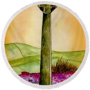 On The Yorkshire Moors Round Beach Towel