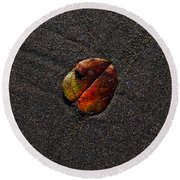 On Vacation Round Beach Towel