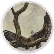 On Wings High Round Beach Towel