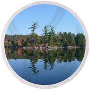 Once Reflected Round Beach Towel
