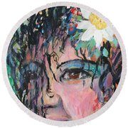 Once Upon A Time Woman Round Beach Towel