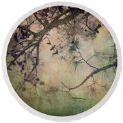 One Autumn Day Round Beach Towel