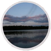 One Moment In Peace Round Beach Towel