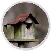 One Room Shack - Bird House Round Beach Towel