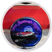 One Summer Night Round Beach Towel
