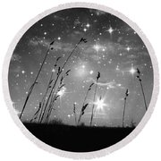 Only The Stars And Me Round Beach Towel