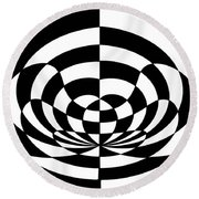 Op Art 2 Round Beach Towel