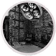 Operating Room - Eastern State Penitentiary - Black And White Round Beach Towel