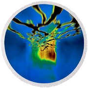 Optic Nerve Round Beach Towel