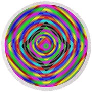 Optical Illusion Round Beach Towel