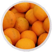 Oranges Round Beach Towel