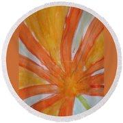 Oranje Bloemblaadje Round Beach Towel