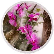 Orchid - Tropical Passion Round Beach Towel