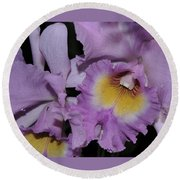 Orchid 234 Round Beach Towel