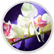 Orchid 3 Round Beach Towel